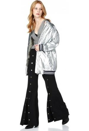 Bsl Fashion Gümüş Ceket 10706