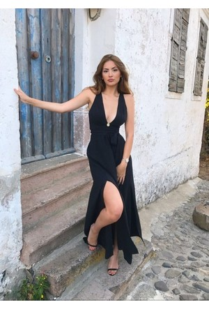 Bsl Fashion Siyah 1 Elbise 9471