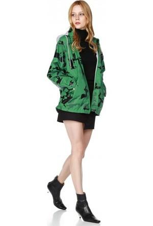Bsl Fashion Yeşil Yağmurluk 9527