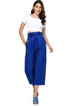 Bsl Fashion Saks Mavi Pantolon 9467