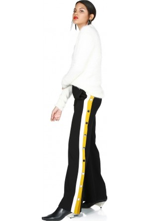 Bsl Fashion Yanları Şeritli Pantolon 9526