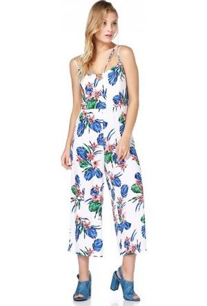 Bsl Fashion Beyaz Tulum Elbise 9483
