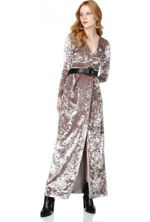 Bsl Fashion Vizon Elbise 9560