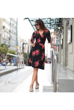 Bsl Fashion Siyah Elbise 9497