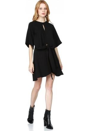 Bsl Fashion Siyah Elbise 9558