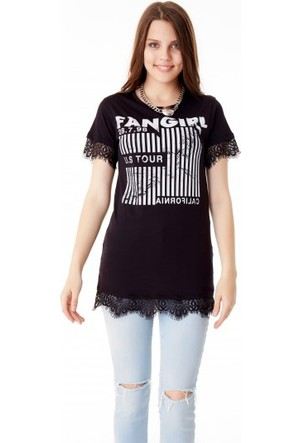 Bsl Fashion Siyah T Shirt 9378