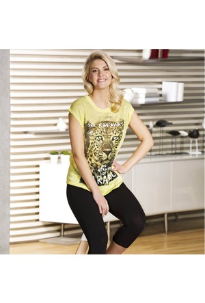 Kadın T-shirt Tayt Takım 9309