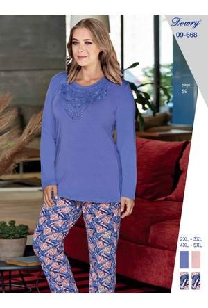 Dowry 09-668 Kışlık Bayan Büyük Beden Pijama Takımı