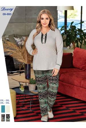 Dowry 09-693 Kışlık Bayan Büyük Beden Pijama Takımı