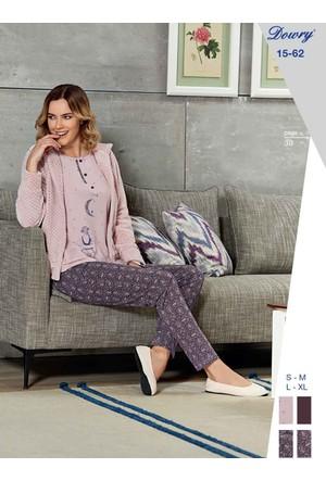 Dowry 15-62 Kışlık Bayan 3'Lü Pijama Takımı