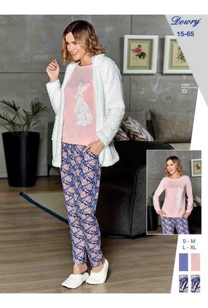 Dowry 15-65 Kışlık Bayan 3'Lü Pijama Takımı