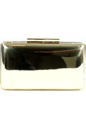Damy 00250 Abiye Çanta Ayna Altın