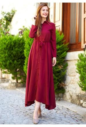 Femme Kemerli Gömlek Elbise