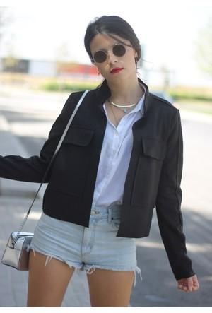Femme Kısa Süet Ceket