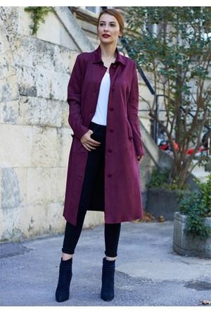 Femme Düğmeli Süet Ceket