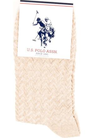 U.S. Polo Assn. Kadın Grapesk7 Çorap Bej
