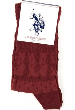 U.S. Polo Assn. Kadın Orna Çorap Kırmızı