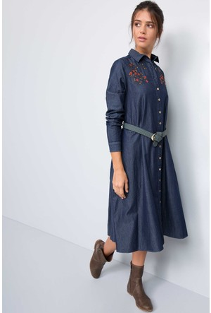 U.S. Polo Assn. Kadın Lolitta Elbise Lacivert