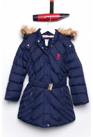 U.S. Polo Assn. Kız Çocuk Ez3155 Kaban Lacivert