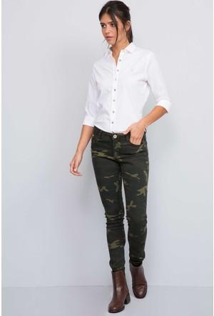 U.S. Polo Assn. Kadın Pack7S Kot Pantolon Yeşil