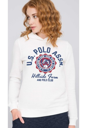 U.S. Polo Assn. Kadın Gistav Sweatshirt Bej