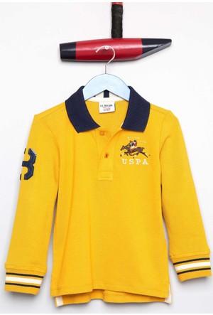 U.S. Polo Assn. Erkek Çocuk Sd01Sk7 Sweatshirt Sarı