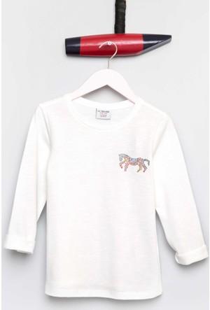 U.S. Polo Assn. Kız Çocuk Sendal Sweatshirt Bej