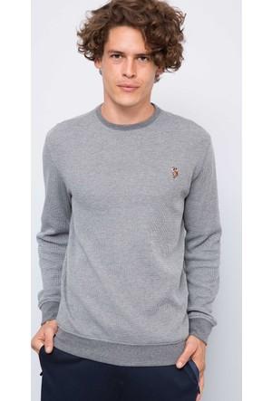 U.S. Polo Assn. Erkek Tilburgsk7 Sweatshirt Gri