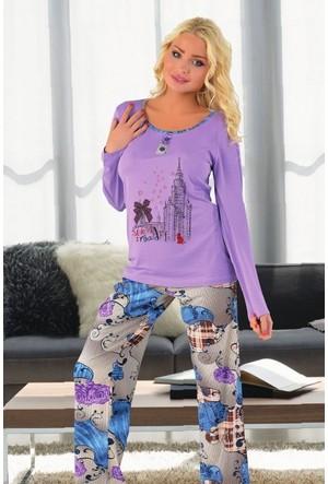 Miss Liska Uzun Kollu Pijama Takım 1275