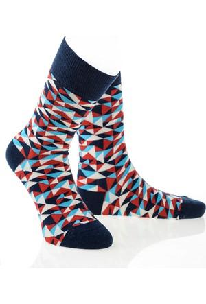 Pixter&Bro Trend Happy Pyramid Erkek Soket Çorap