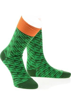Pixter&Bro Trend Happy Green Erkek Soket Çorap