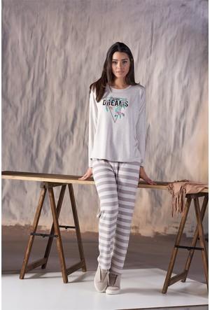 Gizzey Baskılı Kadın Pantolon Takım 20117