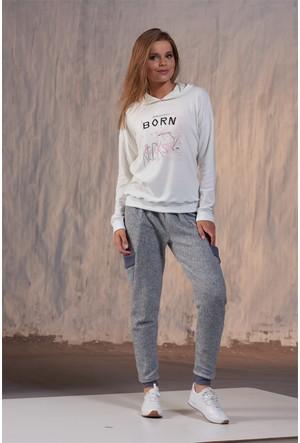 Gizzey Baskılı Kadın Pantolon Takım 20128