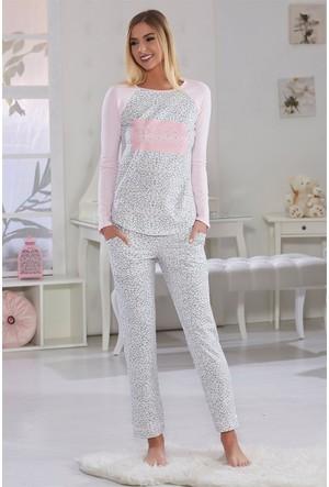 Sevim Baskılı Kadın Pijama Takımı 10479