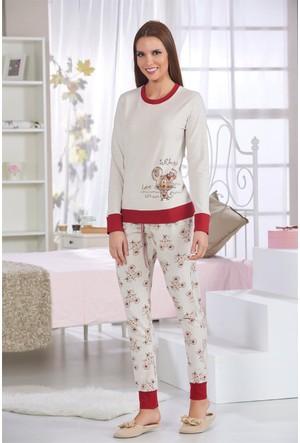 Sevim Baskılı Kadın Pijama Takımı 10496