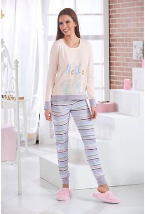 Sevim Baskılı Kadın Pijama Takımı 10523
