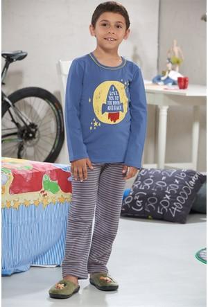 Zeyzey Baskılı Erkek Çocuk Pijama Takımı 7410