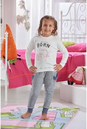 Zeyzey Baskılı Kız Çocuk Pijama Takımı 7567
