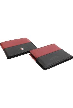 Pascal Polo Psl 16Czd531 S K 2 Siyah Kırmızı Hakiki Deri Kartlık Cüzdan