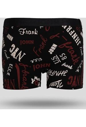 John Frank Erkek Boxer Jfb110 Black