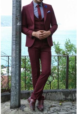 Wessi Yelek Yakalı Tek Düğme Takım Elbise