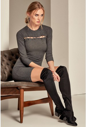 Lafaba Kuşgöz Detaylı Elbise