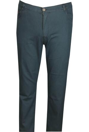 Fala Jeans Büyük Beden Kot Pantolon Petrol
