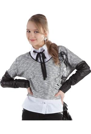 Puledro Kids Kız Çocuk Triko Kazak 14O-48506