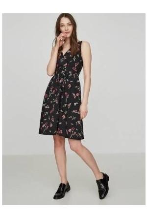 Vmjosephıne S/L Flower Prınt Dress Nfs