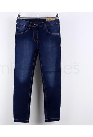 Losan Kız Çocuk Slim Fit Koyu Kot Pantolon