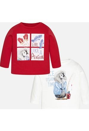 Mayoral Erkek Bebek İkili Uzun Kol Penye T-Shirt Seti