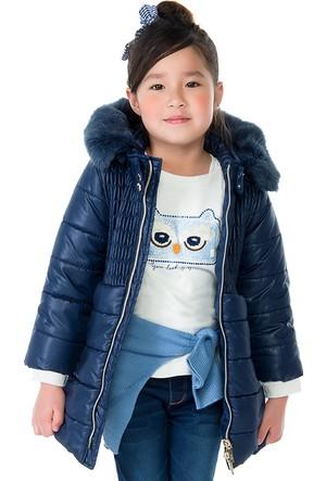 Mayoral Kız Çocuk Kışlık Mont Kürklü Koyu Mavi
