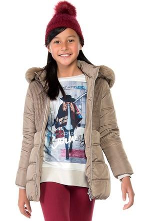 Mayoral Kız Çocuk Mont Kışlık Uzun Boy Ocher
