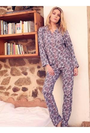 Ayyıldız 50452 Uzun Kollu Gömlek Yaka Pijama Takımı